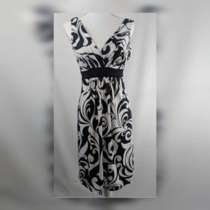MAURICES Empire Style  Black and White Dress Med